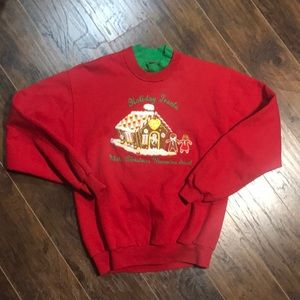 Vintage ugly Christmas sweater red sweatshirt med